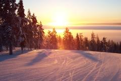 Levi ski run, Lapland