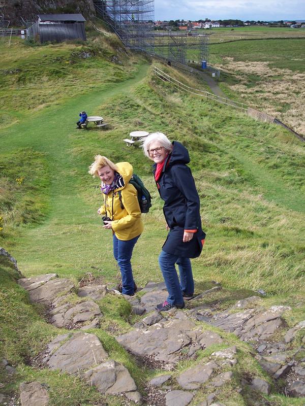 Highest (windiest) point on Lindisfarne