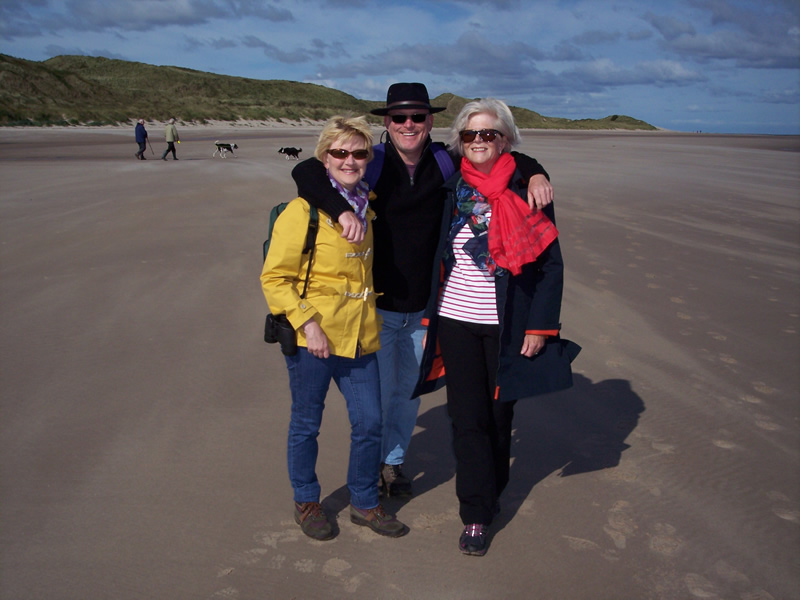 Beach walk from Seahouses to Bamburgh